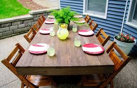 Build Outside Wooden Table by Diy Outdoor Patio Table Tutorial U2014 Decor And The Dog