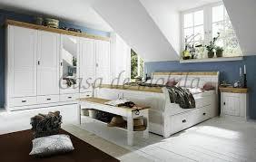 massivholz schlafzimmer set komplett 180x200 kiefer massiv weiß gelaugt landhaus
