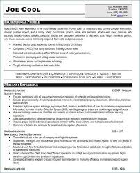 Military Veteran Resume Examples Unique To Civilian Best Of Template Simple