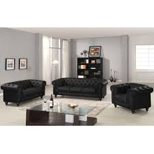 canape chesterfield noir canapé chesterfield 3 places capitonné noir deco