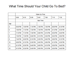 What Time Should My Child Go To Bed Buist Academy For Adv