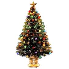 4ft Green Pre Lit Christmas Tree by National Tree Company 4 Ft Fiber Optic Fireworks Artificial