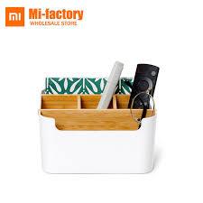 rangement stylo bureau xiaomi stylo papeterie maquillage salle de bains en bois boîte de
