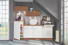 küchenblock inkl geräten in nussbaum dekor weiß