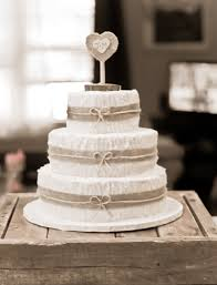 Burlap Wedding Cake Obniiis