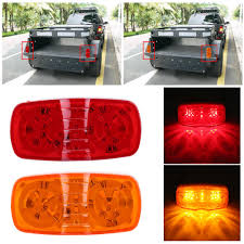 100 Truck Marker Lights Ejoyous Trailer Light20Pcs LED Light Roof Rear Side Lamp For Trailer SUV AmberRed LED Light