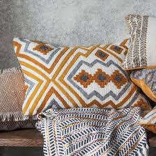 100 Ochre Home Kazaar Hand Embroidered Cushion Love Living