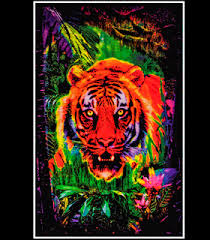 BL6032 Opticz Jungle Tiger Blacklight Reactive Poster
