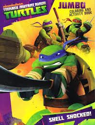 Amazon Teenage Mutant Ninja Turtles Jumbo Coloring Activity Book 96pgs Shell Shocked Toys Games