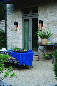 exterior traditional patio design with versetta and wall