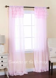 Pink And Purple Ruffle Curtains by Shabby Romantic Chic Sheer Ruffles Curtain Drapes Pink Or White