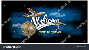 Business Trip Banner Passport With Tickets Air Travel Concept Illustration