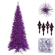 Purple Christmas Tree With Decor