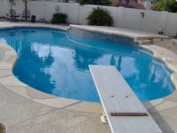 outdoor white fencing for contemporary pool decoration with pool