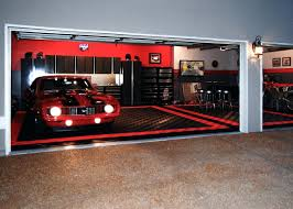 harley themed garage garageracedeck flooring cost racedeck for