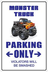 Amazon.com: StickerPirate Monster Truck Parking Only 8