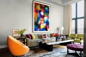 Thomas Ruffs Photograph Substrat 24 I Dominates The Living Room Of Drakes Manhattan Apartment Arranged