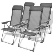 Camping Chairs 4 Pcs Gray Aluminum 22″x23.6″x44.1″ | ChizBiz ... Vakind Philippines Portable Chairs For Sale Prices Ultralight Folding Alinum Alloy Mo End 11120 259 Pm Victorian Ladies Fold Up Rocking Chair For Sale Antiques Helinox Two Rocker Uk Ultralight Outdoor Gear Patio Brands Review In Shop Outsunny 3 Piece Folding And Table Set Backuntrycom Gci Roadtrip Review 50 Campfires Gigatent Camping With Footrest Green Cc 003 T 10 Best 2019 Freestyle That Rock Gearjunkie