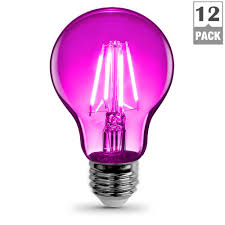 feit electric 25w equivalent pink colored a19 dimmable filament