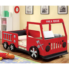 Shop Furniture Of America Rescue Team Fire Truck Metal Youth Bed ... Red Fire Engine Bed With Led Lights Majestic Furnishings Truck Woodworking Plan By Plans4wood Kidkraft Toddler Wayfaircouk Mtbnjcom Freddy Single Amart Fniture Truck Bed Step 2 Little Tikes Toddler Itructions Inspiration Amazoncom Delta Children Wood Nick Jr Paw Patrol Baby Fresh Step Pagesluthiercom Cheap Set Find Deals On Line At 460330 Bunk Beds Seatnsleep Coolest Ever Firefighter In Florida Builds Replica Fire