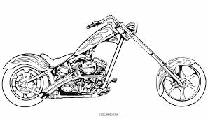 Free Motorcycle Coloring Pages Printable