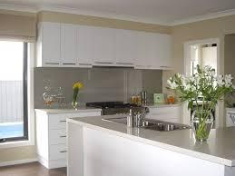 White Gloss Kitchen Design Ideas by Modern White Kitchen Design L Shaped White Gloss Plywood Kitchen