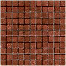 glass tile 1 inch copper brown metallic glass tile