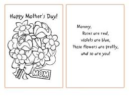 Coloring Pages MotherS Day Cards