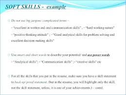 Communication Skill Resume Skills To Put On Resumes Summary