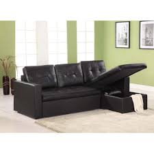 Living Room Decorating Ideas Black Leather Sofa by Modern Living Room Decorating Ideas With Click Clack Sofa Bed And