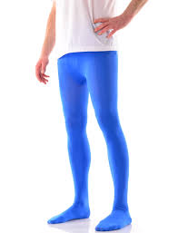 denier opaque microfiber tights for men blue