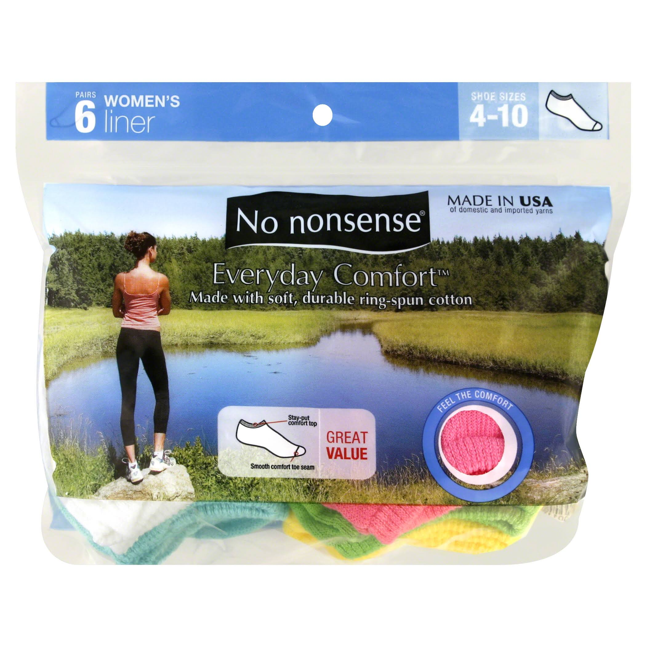 No Nonsense Liners, Women's - 6 pair