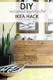 ikea hacks diy reclaimed wood buffet