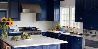 Midnight Blue Kitchen Island