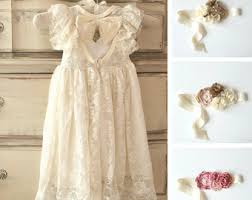 Ivory Flower Girl Dress Girls Lace Country Rustic