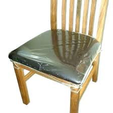 Dining Chair Seat Covers Chairs Protectors Clear Plastic Room