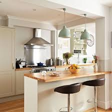 Like The Wooden Top On Island And Pendants Neutral Kitchen With Painted