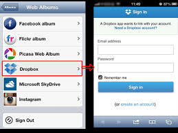view dropbox photos in slideshow on iphone ipad ipod