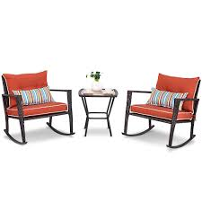 Outdoor 3-Piece Rattan Rocking Chairs And Table Set With Red Cushions The Gripper 2piece Delightfill Rocking Chair Cushion Set Patio Festival Metal Outdoor With Beige Cushions 2pack Fniture Add Comfort And Style To Your Favorite Nuna Wood W Of 2 By Christopher Knight Home Details About Klear Vu Easy Care Piece Maracay Head Java Wicker Enstver Bistro 2piece Seating With Thickened Blue And Brown Amish Bentwood Rocking Chair Augustinathetfordco Splendid Comfortable Chairs Nursing Wooden Luxury Review Phi Villa 3piece
