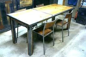 table de cuisine en bois massif table cuisine bois de grange en chaise shabby 1 la tab