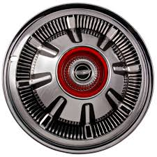 Bronco Rear Hub Cap With Red Center Emblem 15