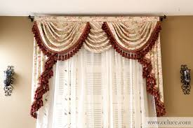 valance curtains with swags and tails by celuce com traditional