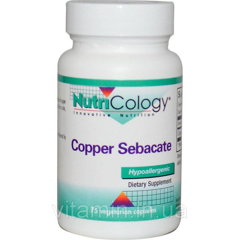 NutriCology Copper Sebacate Minerals Supplement - 75ct