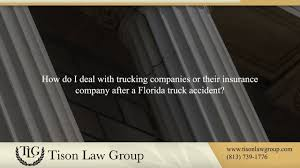 100 Trucking Companies Florida How Do I Deal With Trucking Companies Or Their Insurance Company