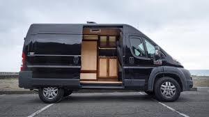 Pro Woodworker Builds Hybrid Live Work Van Conversion