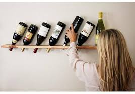 Wine Plank What A Great Way To Display Your And All You Need Is Wood Find Piece With Nice Natural Finish Like They Did Here