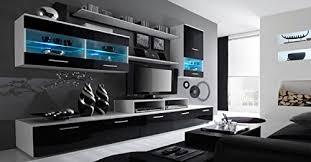home innovation glanzlack wohnwand wohnzimmer