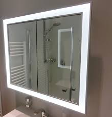 heibad universal spiegelschrank mit led beleuchtung mit 3 türen b 1400mm h 855mm nischeneinbau sps140un1