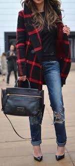 Plaid Coats Are Perfect For Winter Date Night Outfits