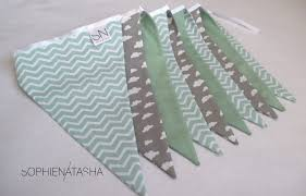 Gray Chevron Curtains Uk by Mint Green And Grey Chevron Fabric Bunting